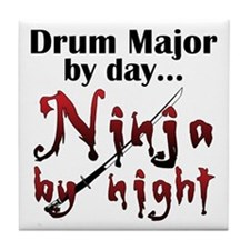 Drum Major Ninja Tile Coaster