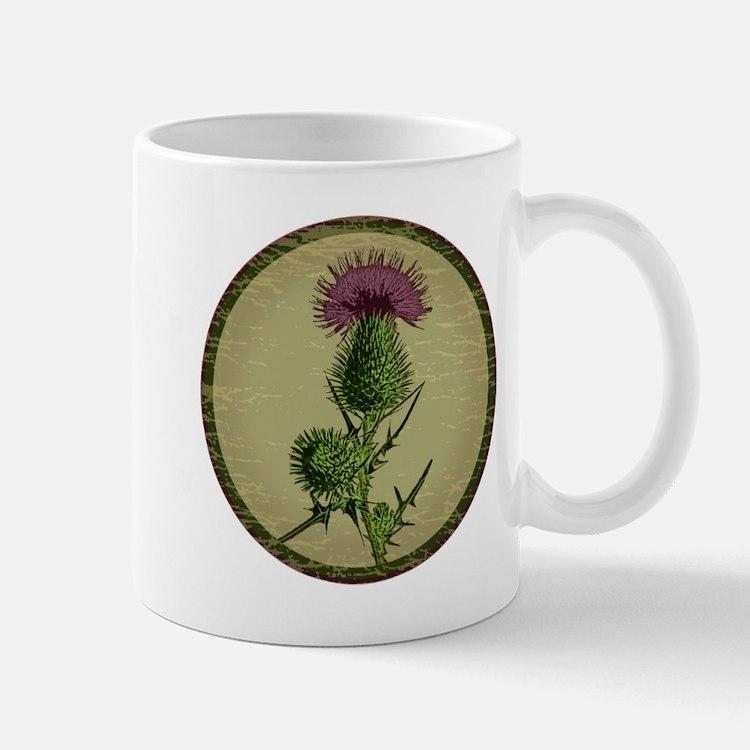 Cute Scottish thistle Mug