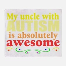Awesome autism uncle Throw Blanket