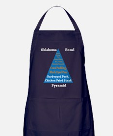 Oklahoma Food Pyramid Apron (dark)
