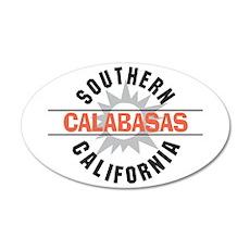 Calabasas California 38.5 x 24.5 Oval Wall Peel