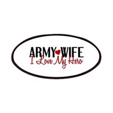 Army Wife - Love My Hero Patches