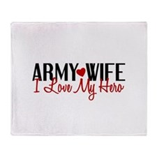Army Wife - Love My Hero Throw Blanket