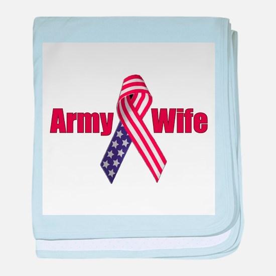 Army Wife (RWB Ribbon) baby blanket
