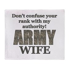 Unique Proud military wife Throw Blanket