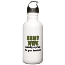 Army Wife - deprived Water Bottle