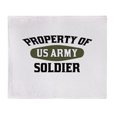 Property US Army Soldier Throw Blanket