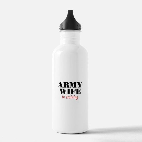 Army Wife in training Water Bottle