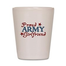 Army Girlfriend Collage Shot Glass