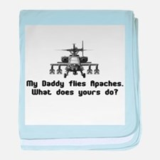Daddy Flies Apaches baby blanket