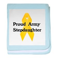 Proud Army Stepdaughter baby blanket