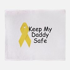 Keep My Daddy Safe Throw Blanket