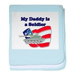 My Daddy is a Soldier Tank baby blanket