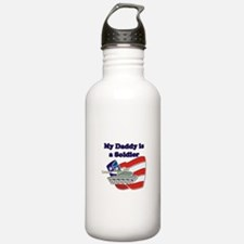 My Daddy is a Soldier Tank Water Bottle
