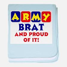 Proud Army Brat baby blanket