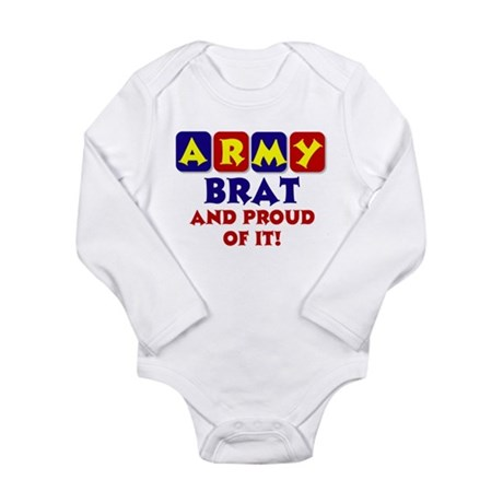 Proud Army Brat Long Sleeve Infant Bodysuit