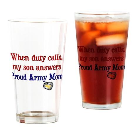 When Duty Calls - Mom Drinking Glass