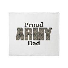 Proud Army Dad (ACU) Throw Blanket