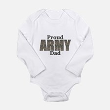 Proud Army Dad (ACU) Long Sleeve Infant Bodysuit