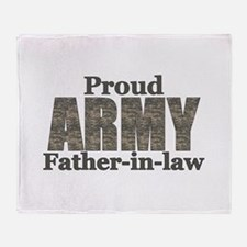 Proud Father-in-law (ACU) Throw Blanket