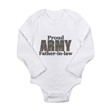 Proud Father-in-law (ACU) Long Sleeve Infant Bodys