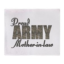 Cute Military daughter in law Throw Blanket