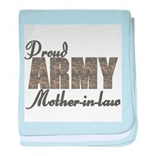 Cute Army mother baby blanket