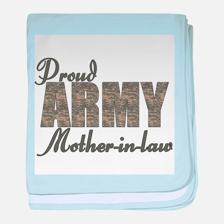 Cute Military mother in law baby blanket