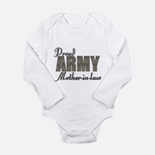 Cute Military son in law Long Sleeve Infant Bodysuit