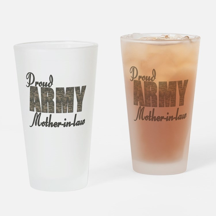 Cute Army mother in law Drinking Glass