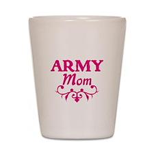 Army Mom (pink) Shot Glass