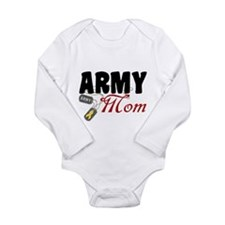 Army Mom Dog Tags Long Sleeve Infant Bodysuit