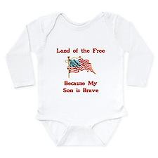 Brave Son Long Sleeve Infant Bodysuit