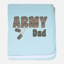 Army Dad (tags) baby blanket