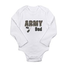 Army Dad (tags) Long Sleeve Infant Bodysuit