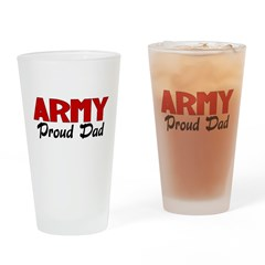 Army Dad (red) Drinking Glass