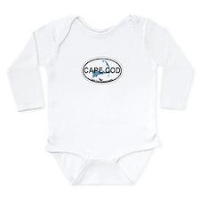 Cape Cod MA - Oval Design Long Sleeve Infant Bodys