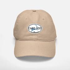 Baseball Baseball Cape Cod MA - Oval Design Baseball Baseball Cap