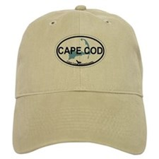 Baseball Cape Cod MA - Oval Design Baseball Cap