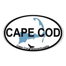 Cape Cod MA - Oval Design Decal