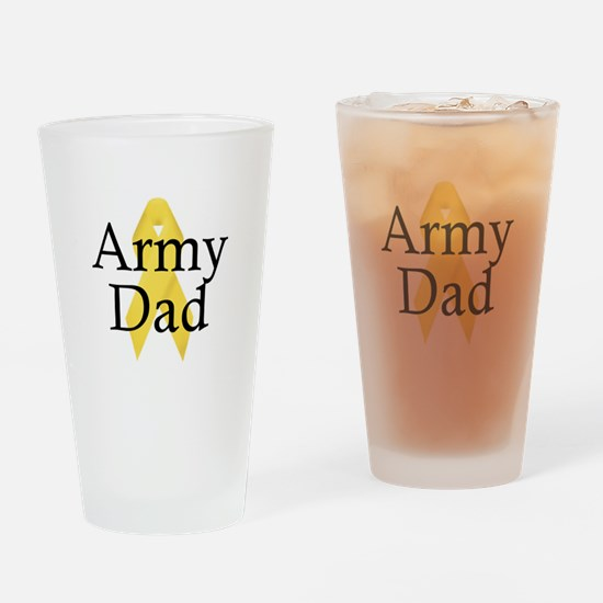 Army Dad Ribbon Drinking Glass