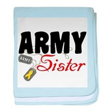 Army Sister Dog Tags baby blanket