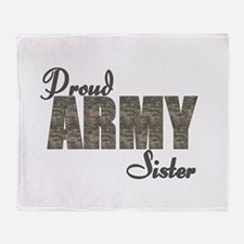 ACU Army Sister Throw Blanket