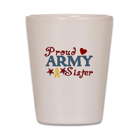 Army Sister (collage) Shot Glass