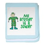 My Brother is a Soldier baby blanket
