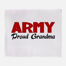 Army Grandma (red) Throw Blanket