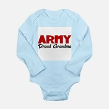 Army Grandma (red) Long Sleeve Infant Bodysuit