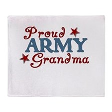 Army Grandma (collage) Throw Blanket