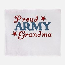 Army Grandma (collage) Throw Blanket