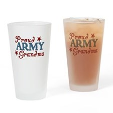 Army Grandma (collage) Drinking Glass